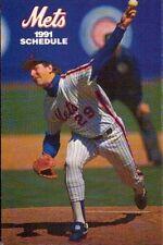 Frank Viola 1991 New York Mets Season Schedule MetLife