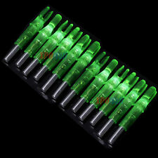 12Pcs Shooting Archery LED Lighted Nock Compound Bow 6.2mm Green Arrow Nock US