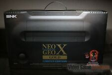 Neo Geo X Gold Limited Edition Black Game Console FACTORY SEALED! - RARE!