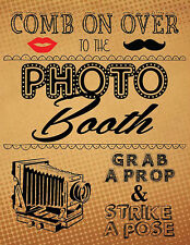 DIY DIGITAL Vintage Photo Booth sign props NO PHYSICAL ITEM