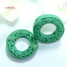 China Lackperle Chinalack Cinnabar mintfarbender Ring 20 mm, 1 Stück