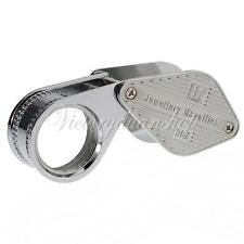 Antique 30X-21mm Jeweler Diamond Foldable Eye Loupe Magnifying Magnifier Glass