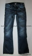 SILVER JEANS TWISTED Bootcut Womens 28 x 33 THICK STITCHING Faded Denim
