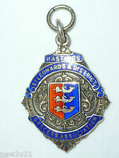 Art Deco Silver Enamel Fob Medal Hastings St Leonards District Grocers Assoc