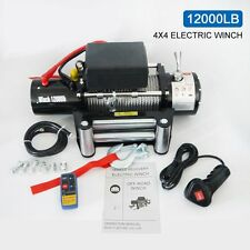 Classic 12000lbs 12V Electric Recovery Winch Truck SUV Durable Remote Control US