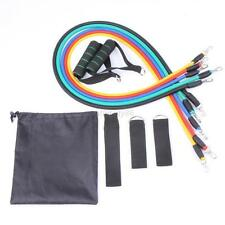 Workout  Resistance Bands Set NEW 11 PCS Yoga Fitness Exercise Pilates Abs Tube