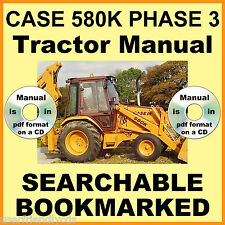 Case 580k Phase 3 III Tractor JJG0020000 &up Service Repair Manual SEARCHABLE CD