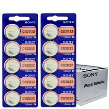 **Super Fresh* 10 x Sony CR2032 Lithium 3V Batteries (2 x Pack of 5) Expire 2025