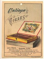 Luis Marx Habana Cuba Cigars Caliope & El Columbus Java Coffee Trade Card