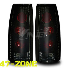 For Chevy GMC Cadillac Altezza Style Black Housing Smoke Lens Tail Lights Lamps