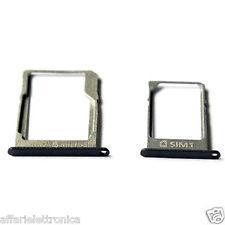 Vassoio alloggio Micro Sd + porta nano Sim per Samsung Galaxy A3 A5 A7 NERO