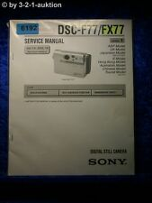 Sony Service Manual DSC F77 /FX77 Level 1 Digital Still Camera (#6192)