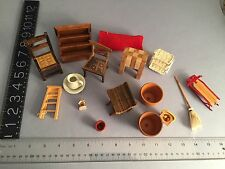 Vintage 1960's-80's LARGE lot of doll house miniature furniture GREAT LOT