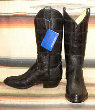 Vintage Panhandle Slim Black Iguana Lizard Cowboy Boots Mens 6 D Womens 7 M New