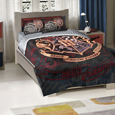 Harry Potter School Motto Twin/Full Bedding Comforter Set Blankets Sheets Sets
