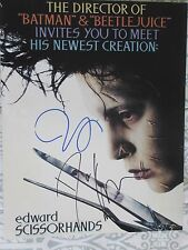 TIM BURTON & DANNY ELFMAN Signed 11x14 PHOTO DC/COA EDWARD SCISSORHANDS (RARE)