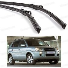 2Pcs Car Front Windshield Wiper Blade Bracketless for Hyundai Tucson 2005-2009