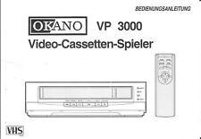 Okano originale manuale per lettore video 300 VP