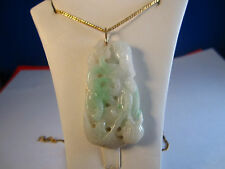 VINTAGE NATURAL JADE(JADITE) PENDANT #8-GREAT GIFT FOR ALL OCCASIONS-UNIQUE!