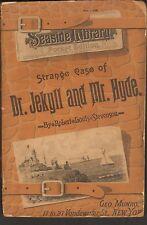Strange Case of Dr. Jekyll & Mr Hyde Paperback 1888 wear on spine good for age