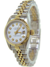Rolex Datejust Ladies 18K Gold  & Stainless Steel Diamonds Ref 69173 26mm