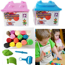 Play Dough House Set Kids Clay Mould Creative Activity Craft Gift 15Tube Shapes