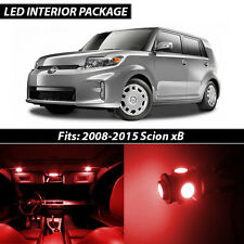2008-2015 Scion xB Red Interior LED Lights Package Kit