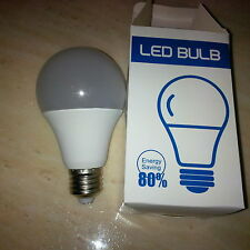 LED  Bulbs  9w E27 Globe  screw cap pack of 4 Brand New