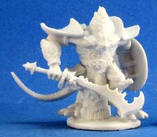 1 x KAR DRAKIR - BONES REAPER figurine miniature jdr d&d dragonman dragon 77214