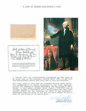 George Washington's Hair With Charles Hamilton COA