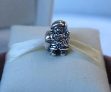 New w/Box Pandora RETIRED Sterling Silver Santa Charm #790852 Christmas