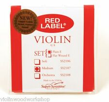 Super Sensitive Red Label  4/4 Violin Medium Tension String VWWS USA