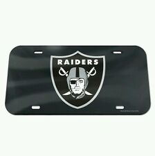 OAKLAND RAIDERS CRYSTAL MIRROR CAR LICENSE PLATE BRAND NEW FREE SHIPPING!