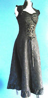 VICTORIAN STYLE GOTH STEAMPUNK BURLESQUE LONG BLACK DRESS LACE JAWBREAKER XL