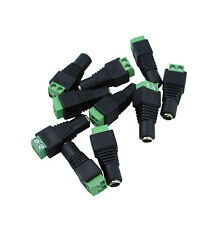 10pcs DC Power Female Jack Barrel Plug Connector  2.1 x 5.5 mm Adapter Terminal
