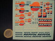 "DECALS 1/43  LOGOS "" REPSOL "" FLUO - VIRAGES  T132"
