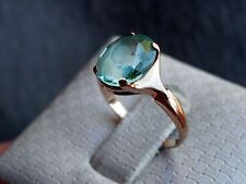 10K Solid Yellow Gold Light Blue Apatite Gemstone Ring Size 5.5