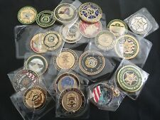 100 CHALLENGE COINS LOT LAW Enforcement AGENCIES & MILITARY $4.50 EACH SHIP FREE