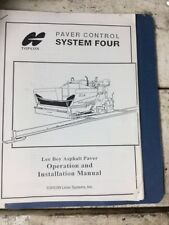 LeeBoy asphalt paver Topcon Laser Systems operations services manual