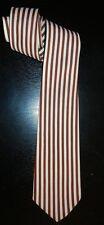 Vintage 1940s 1950s APPLESKIN Twill Striped Satin Necktie Cravat Tie
