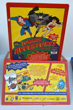 Best Western PROMOTIONAL STAND UP w Animated DC Heroes 1999 Superman Batman WW