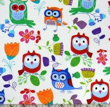 Timeless Treasures Owl Be Seeing You Multi Fabric
