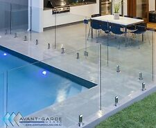 1400x1200x12mm Hinged Panel DIY Frameless Glass Pool Fencing From $158/m Sydney