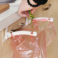 Kitchen Cupboard Cabinet Door Stand Storage Garbage Bags Hanging Hooks Good