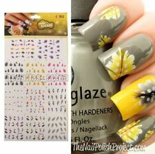 1planche de stickers Nail Art filigrane water décal plume forme décoration ongle