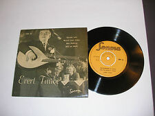 "EVERT TAUBE 4 Song EP 7"" 45 RPM Picture Sleeve SWEDEN"