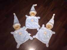 1 Stück- Nicotoy Schnuffeltuch Schmusetuch Kuscheltuch Teddybär hellblau Fenster