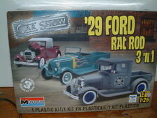 1/25 1929 Ford Pick Up 3 in1 Stock, rata o varilla, mongram Kit plástico