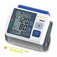 LCD Digital Wrist Cuff Blood Pressure Monitor Heart Rate Beat Pulse Meter Measur