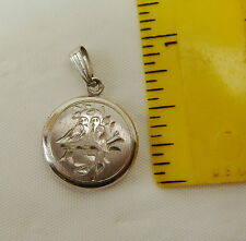 ENGRAVED LOVEBIRDS STERLING SILVER LOCKET